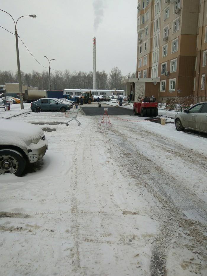Ухтыж#бтвоюматьвотоночо Россия, Асфальт, Снег, Подмосковье, Длиннопост