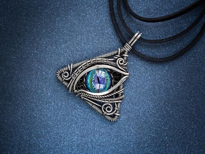 Глаз дракона... Wire wrap, Лэмпворк, Рукоделие без процесса, Украшения ручной работы, Кулон, Глаза, Всевидящее око, Видео, Длиннопост