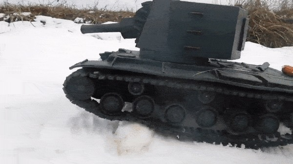 КВ-2 в пластилиновом камуфляже Мир моих танков, Саша Резнов, Пластилин, Кв-2, ЛТТБ, Пантера, Видео, Гифка, Длиннопост, Танки