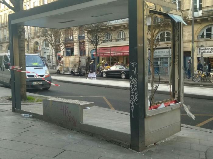 Последствия вчерашних протестов во Франции Франция, Митинг, Европа, Вандализм, Длиннопост, Бордо