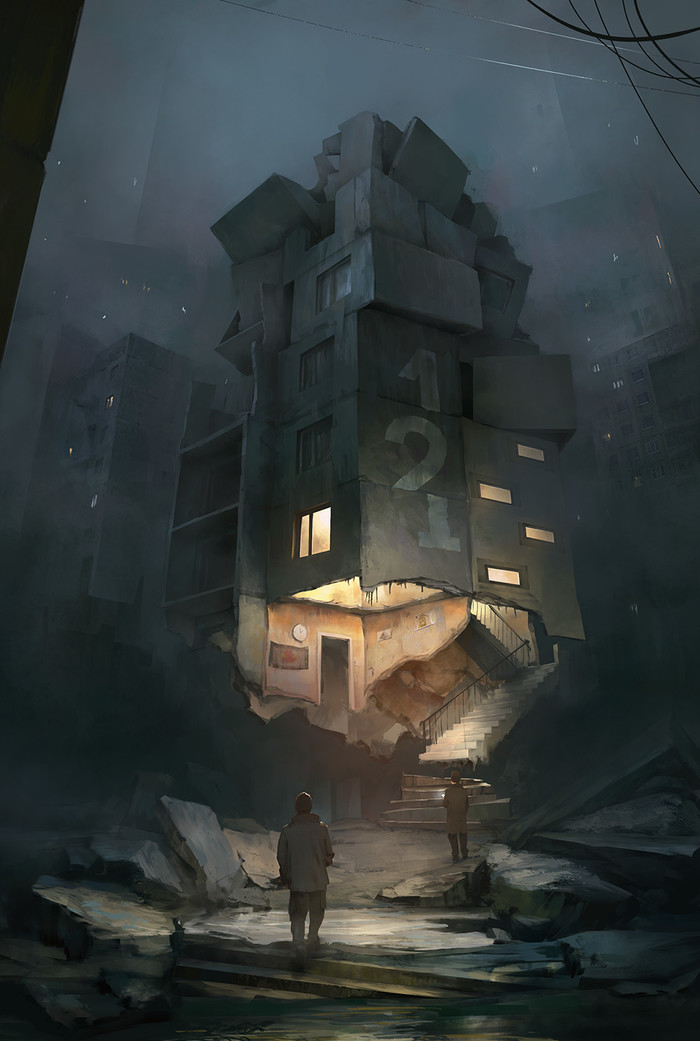 """Пикник на обочине"" от художникаPawlack Арт, Стругацкие, Пикник на обочине, Pawlack, Длиннопост"