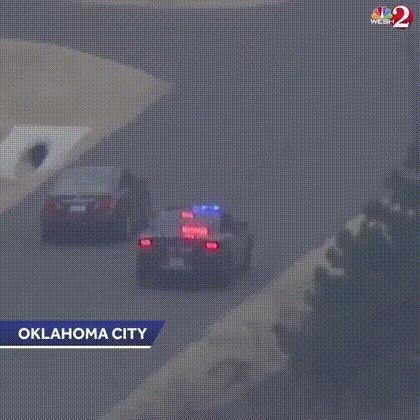 Жёсткое задержание Полиция США, Авто, Авария, Столб, Гифка, ДТП