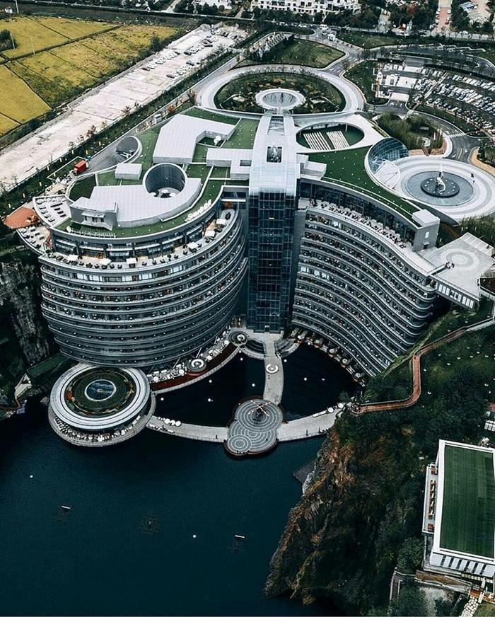 Отель в Китае Отель, Китай, Фотография, Архитектура, Дизайн, Стиль, Красота, Необычное, Длиннопост