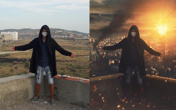 """Художественная обработка """"Ruins"""" Photoshop, Арт, Постапокалипсис, Апокалипсис, Руины, KayutaFlinta, Флинт, Видео"""