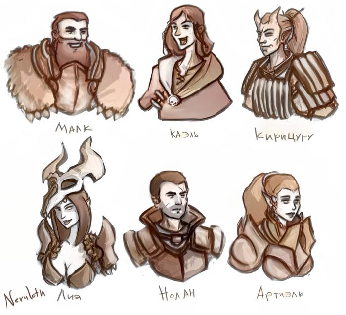 Мои любимчики <3 [Dungeon and Dragons] Neruloth, DnD 5, Game Art, Арт, Рисунок