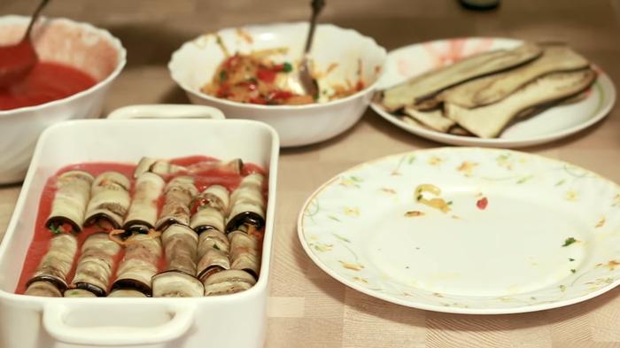 Новогодняя закуска из маринованных баклажанов Маринованные баклажаны, Закуска, Холодные закуски, Рецепт, Видео рецепт, Кулинария, Еда, IrinaCooking, Видео, Длиннопост