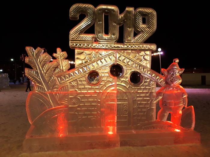 Немного зимнего настроения Новый Год, Ёлка, Ледяная скульптура, Длиннопост