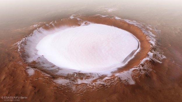 Насчёт воды на Марсе. А прикиньте... Марс, Вода, Лед, Ледник, Доанализировались