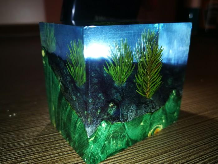 Вечные ёлочки (замурованные в акрил) Новый Год, Гибрид, Новогодняя елка, Длиннопост
