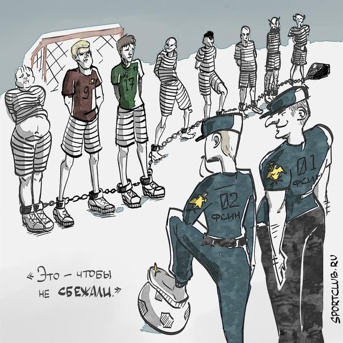 Матч века Кокорин, Мамаев, Кокорин и Мамаев, Карикатура