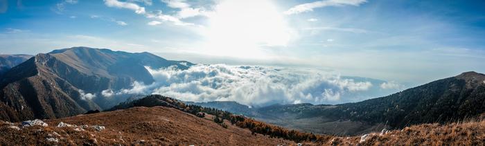 Лагонакский хребет Горы, Небо, Работа, Рабочее место, Адыгея, Туризм, Облака, Длиннопост