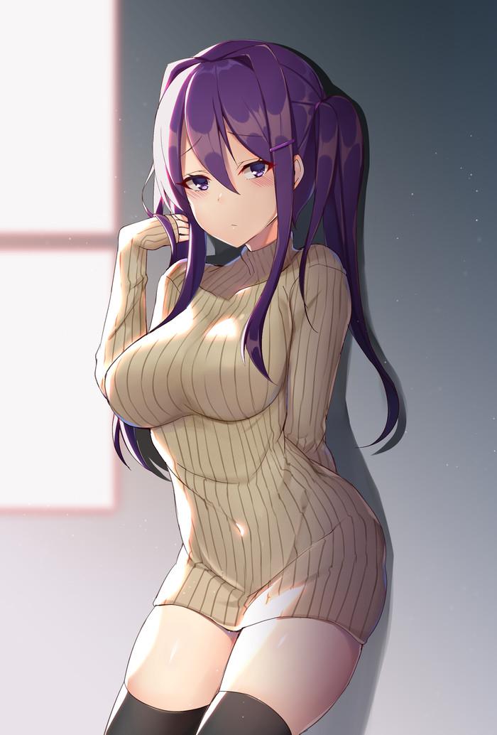 Yuri Doki doki literature Club, Визуальная новелла, Аниме, Не аниме, Yuri DDLC, Anime Art