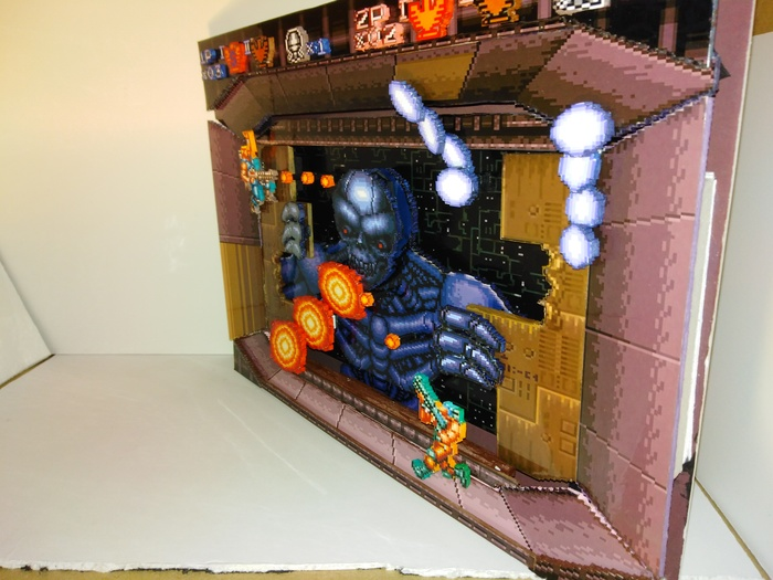 Диорама по игре Contra 3 : The Alien Wars Диорама, Contra, Ретрогейминг, Своими руками, SNES, Компьютерные игры, Длиннопост