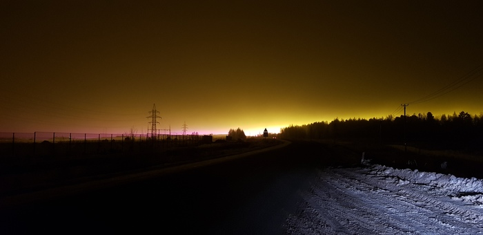 Ядерный закат Красивое, Ночь, Дорога