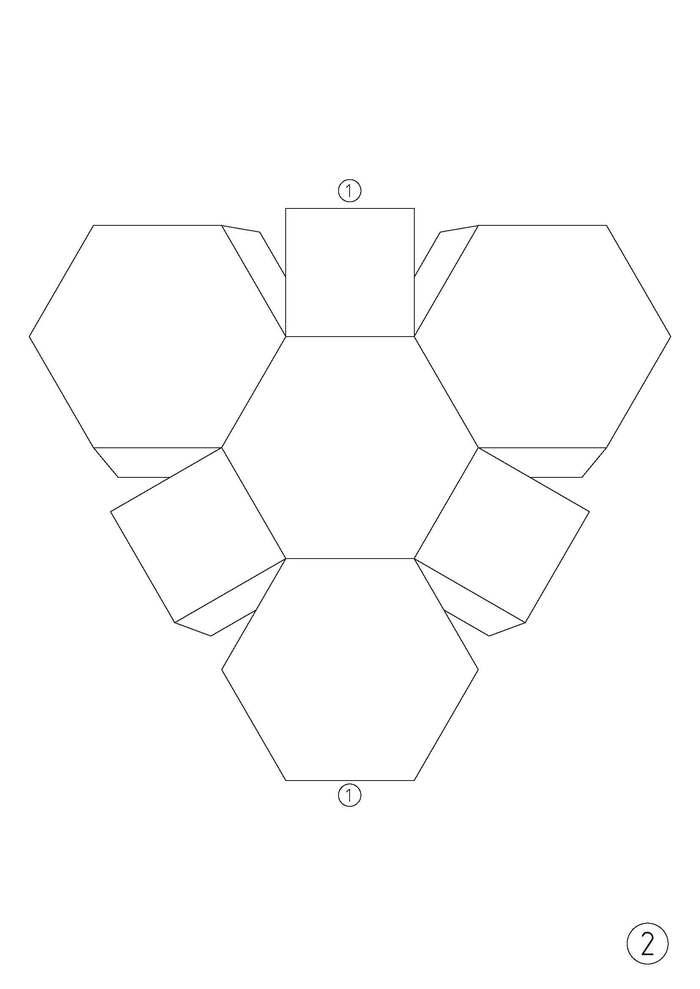 Усечённый октаэдр из картона. Октаэдр, Многогранник, Своими руками, Рукоделие с процессом, Видео, Архимед, Геометрия, Длиннопост