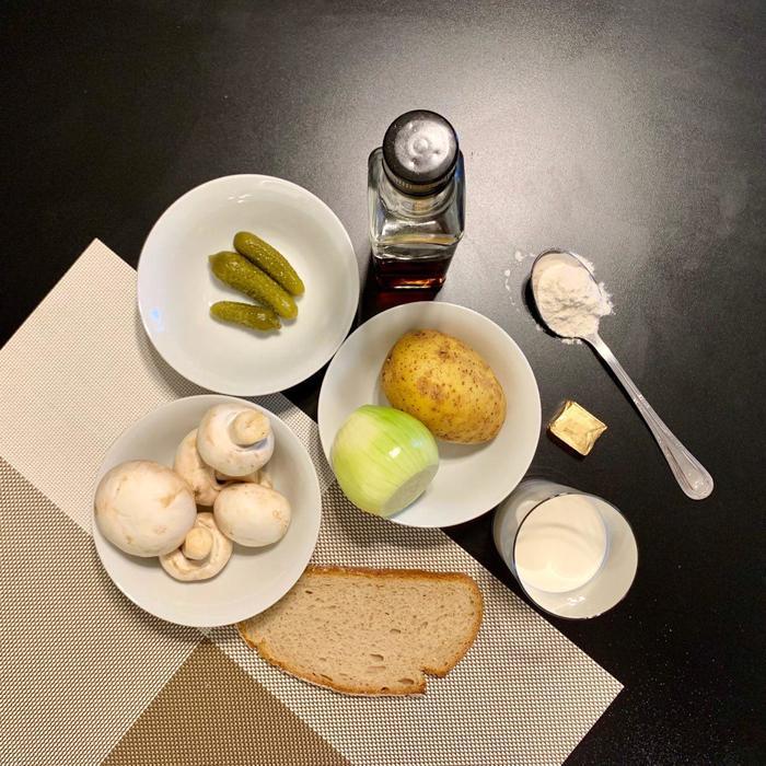 Суп-пюре с корнишонами Суп, Корнишоны, Рецепт, Блендер, Шампиньоны, Длиннопост