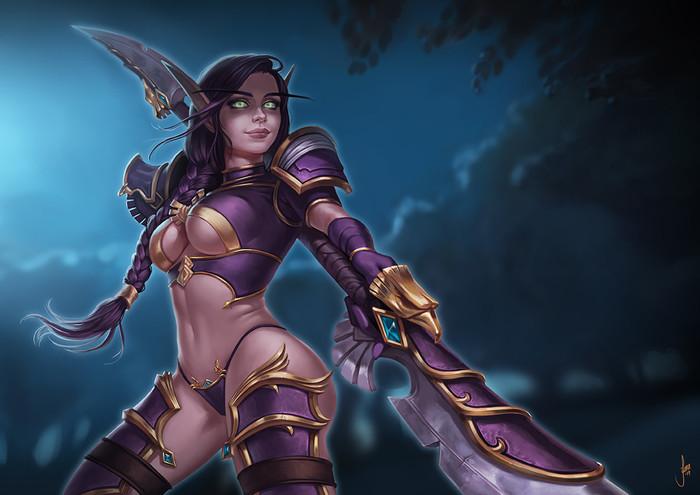 Rylisa. World of Warcraft, Эльфийка, Арт