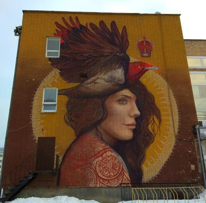 Граффити (так же как и стрит-арт) должны украшать стены, а не уродовать их #84 Уличная живопись, Стрит-Арт, Граффити, Екатеринбург, Сирин, Алконост, Фотография, Длиннопост