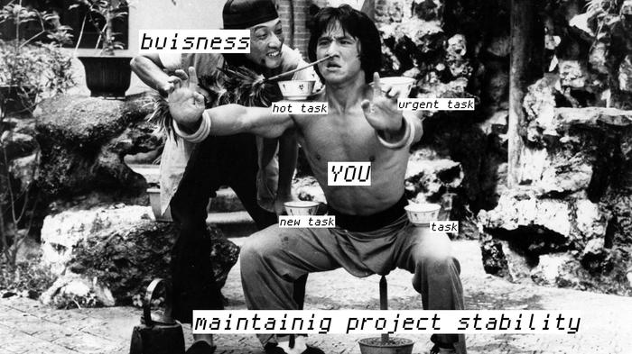 Поддержание стабильности проекта Программирование, It юмор, Джеки Чан
