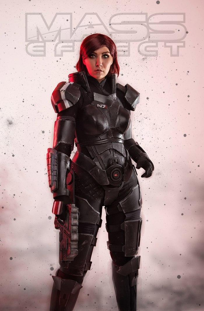 Шепард (Arienai Ten) и ее команда. Косплей, Mass Effect, Шепард, Гаррус, Найрин, Русский косплей, Длиннопост