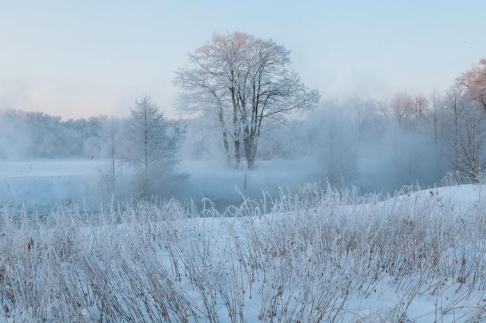 Незамерзающая река в Подмосковье Зима, Подмосковье, Московская область, Фотография, Река, Мороз, Снег, Длиннопост