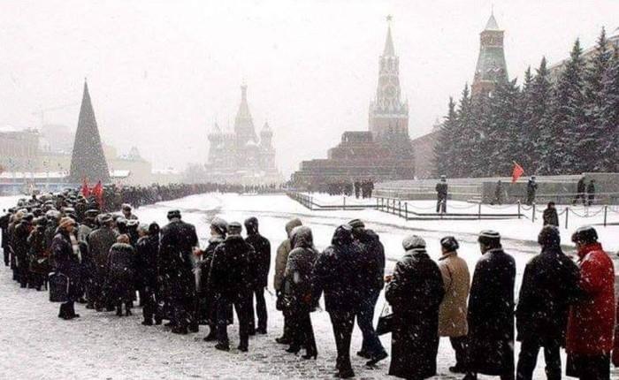 Очередь в мавзолей Ленина 21 января 2019