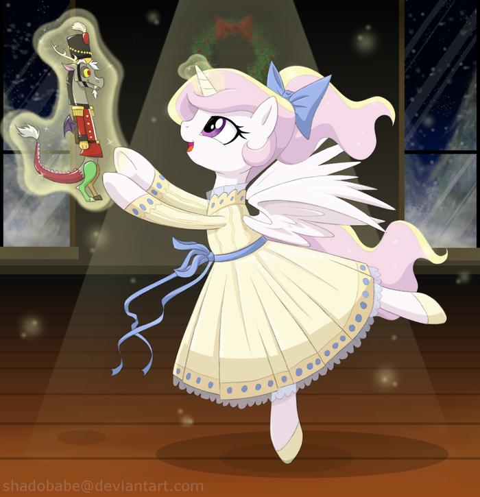 Щелкунчик... My Little Pony, Princess Celestia, Discord, Щелкунчик, Crossover, Шиппинг