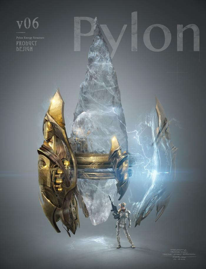 Несколько концептов пилона протоссов из Legacy of the Void. Starcraft, Starcraft 2, Blizzard, Протоссы, Длиннопост, Арт