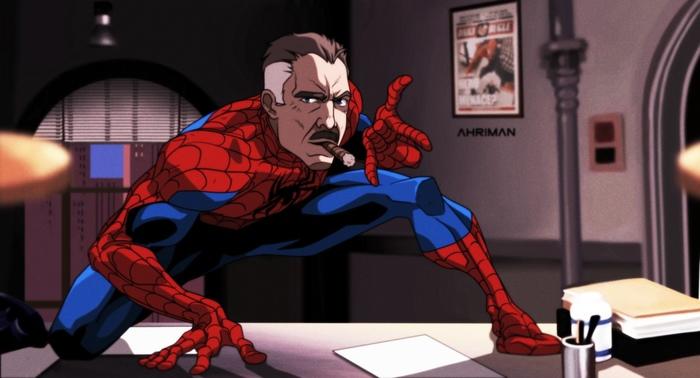 Еще пара артов от Аримана... Ahriman, Робокоп, Max Payne, Альф, Длиннопост, Человек-Паук, Джей Джей Джеймсон
