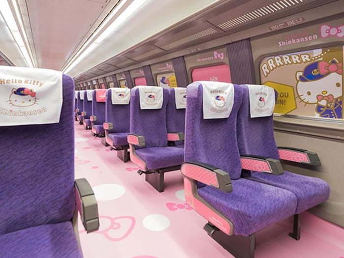 В Японии с сегодняшнего дня запущен Hello Kitty поезд Япония, Поезд, Hello Kitty