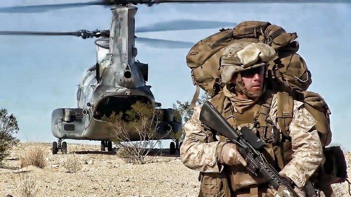 """СH-46.""""Морской рыцарь"""" для морской пехоты. Вертолет, Морская пехота, Ch-46, Длиннопост"""