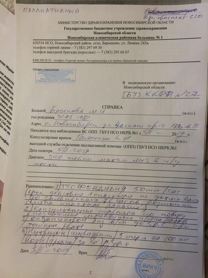 Паллиативная служба. Онкология, Лечение от рака, Новосибирск, Длиннопост