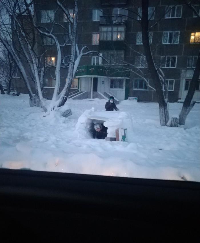 Детство живо! Снежный шалаш, Дети, Детство, Казахстан, Щучинск