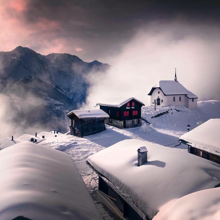Швейцария Швейцария, Зима, Фотография