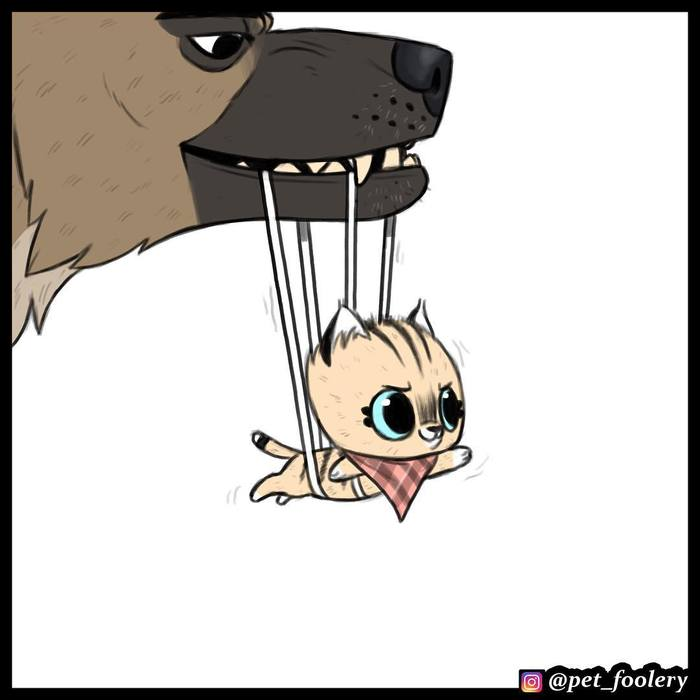 Супер-Пикси Pet Foolery, Брут и пикси, Комиксы, Милота, Перевел сам, Длиннопост, Кот, Собака