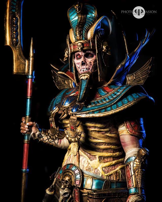 Косплей Царя Гробниц из фэнтезийного Вархаммера Косплей, Warhammer Fantasy Battles, Warhammer, Цари Гробниц, Нежить, Фотография, Длиннопост