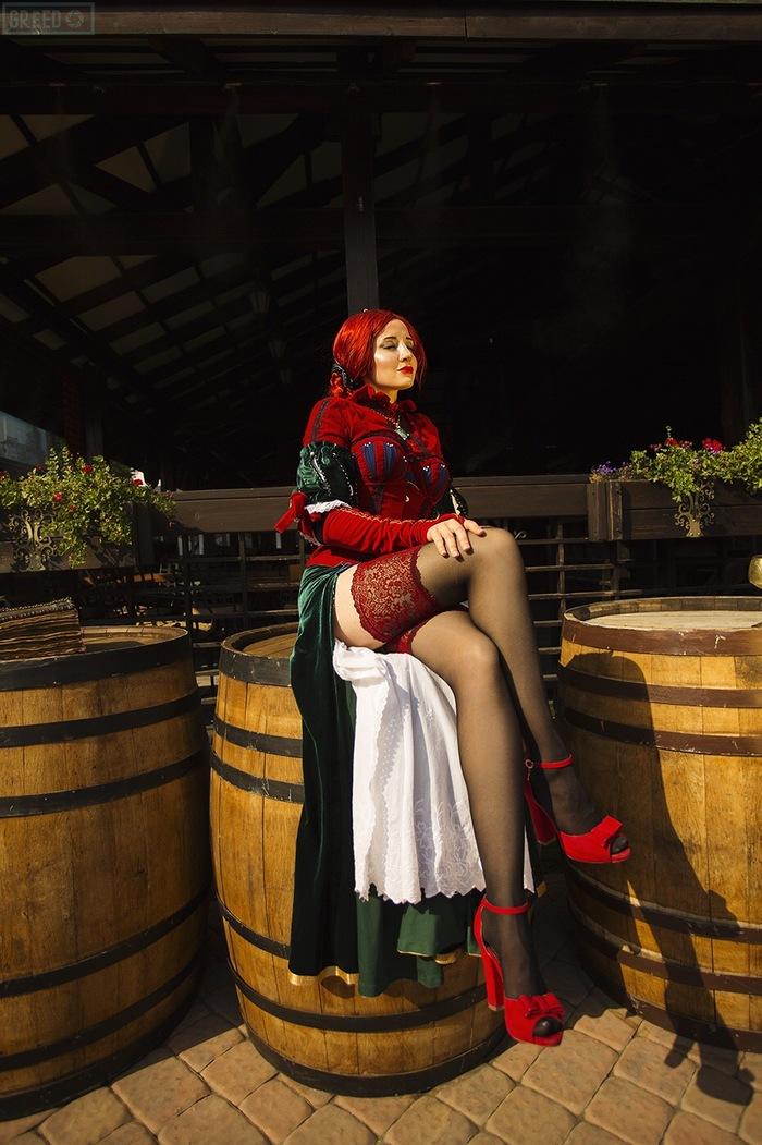 Triss Merigold Косплей, Русский косплей, Красивая девушка, Ведьмак, Ведьмак 3, Трисс Меригольд, Видеоигра, Длиннопост