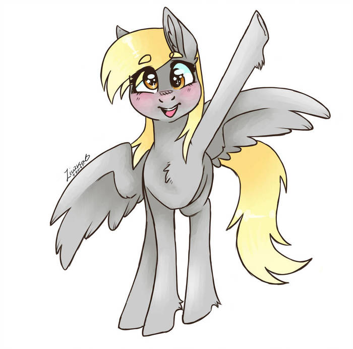 Дерпи My Little Pony, Derpy Hooves, Ponyart, Emolivz