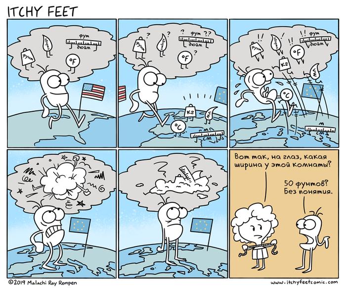 В Меру Безграмотный Itchy Feet, Комиксы, Перевод, Единицы измерения, Система Си, Имперская Система