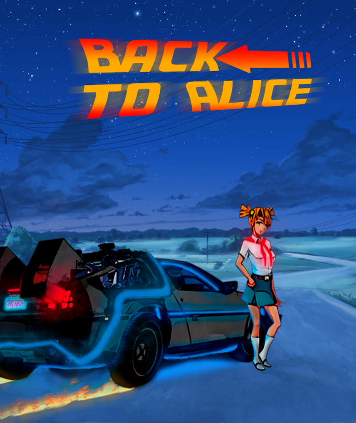 Назад к Алисе. Первая работа в этом стиле Бесконечное Лето, Визуальная новелла, Арт, Photoshop, Алиса Двачевская