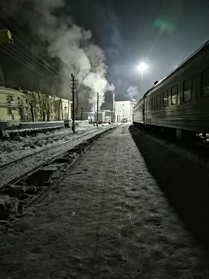 Мой друг работает на ЖД и шлёт такие фото. Часть 1 Фотография, Поезд, РЖД, Работа в РЖД, Работа, Ночь, Длиннопост