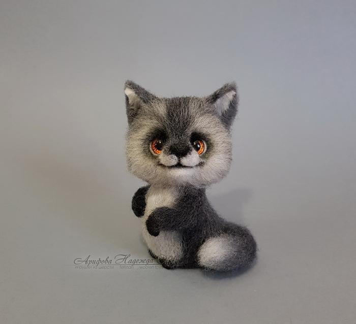 Серенький волчок (игрушка из шерсти) Волк, Игрушка из шерсти, Рукоделие без процесса, Валяние, Волчок