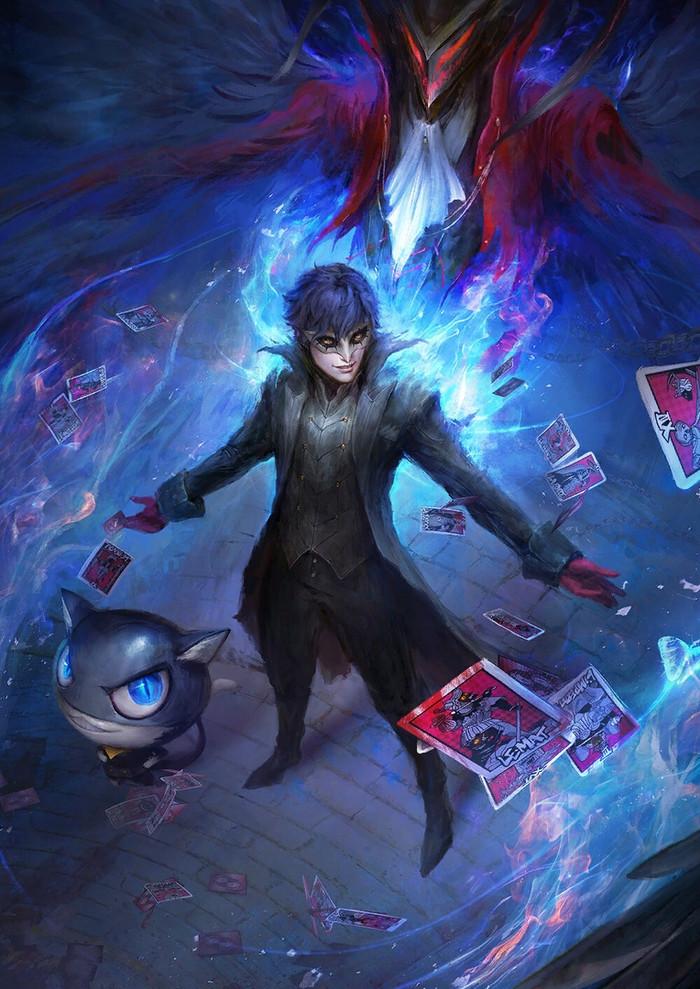 Joker Persona 5, Игры, Арт, Digital