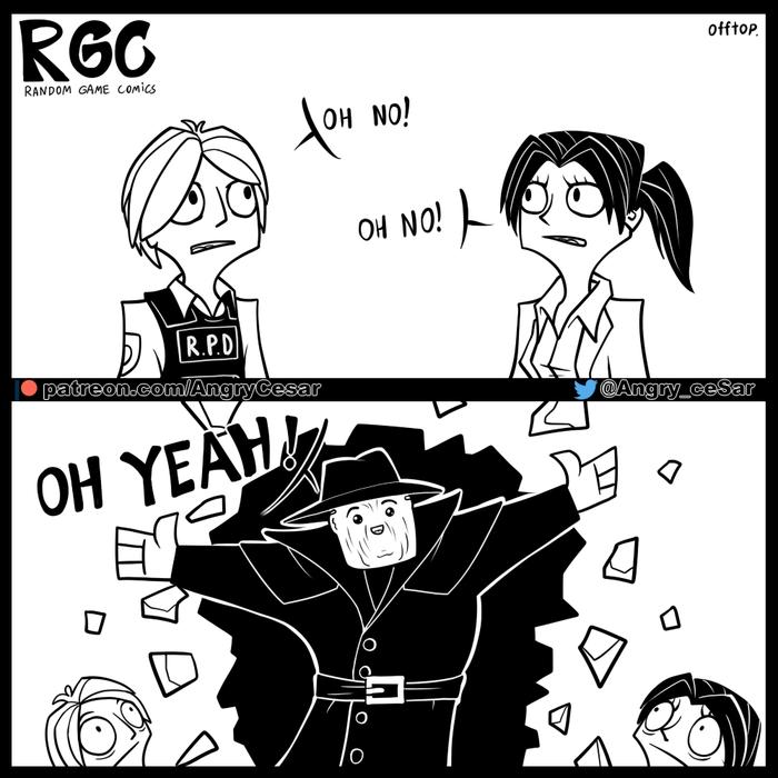 О ДА! Llcesarll, Cesar Black White, Random Game Comics, Rgc, Resident Evil, Resident Evil 2: Remake