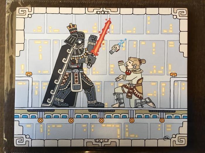 Если бы Звездные Войны придумали майя или ацтеки Star Wars, Майя, Иллюстрации, Reddit, Стилизация, Ацтеки