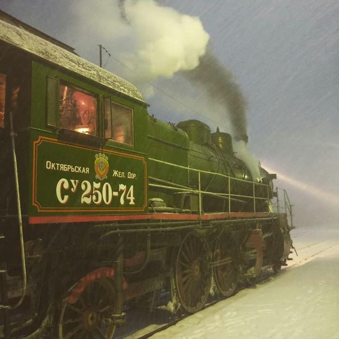 Зимний паровоз Железная Дорога, Паровоз, Подвижной состав