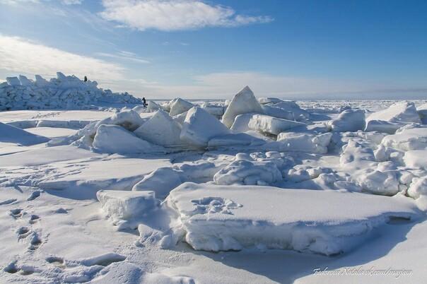 Море сломалось ((( Море, Северодвинск, Белое море, Весна, Лед, Длиннопост