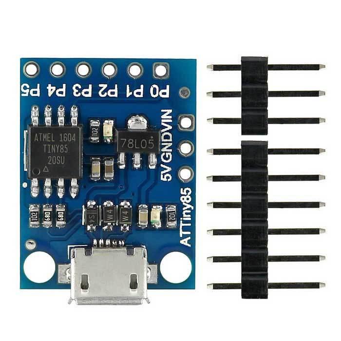 Вольтметр-приставка к ПК за доллар (первое знакомство с ATtiny85 microUSB) Arduino, Tiny85, Flowstone, Dsp Robotics, Вольтметр, Длиннопост