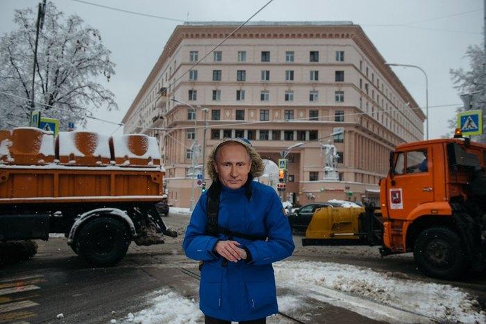 Я три дня ходил по Москве в маске Путина.Не хотел, но пришлось. Путин, Длиннопост, Статья, Маска, Эксперимент