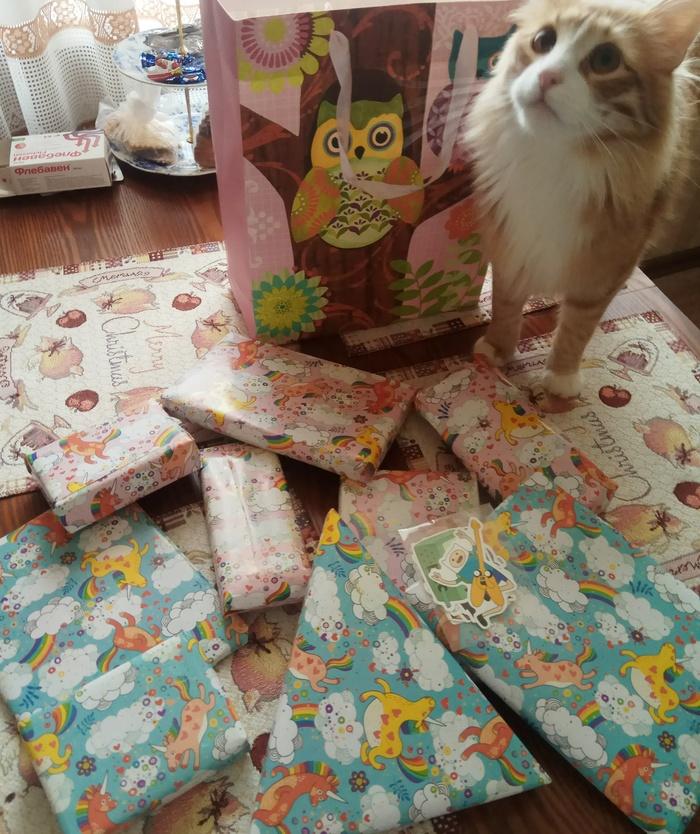 Когда уже совсем не ждёшь... Обмен подарками, Новогодний обмен подарками, Тайный Санта, Альтруизм, Спасибо, Отчет по обмену подарками